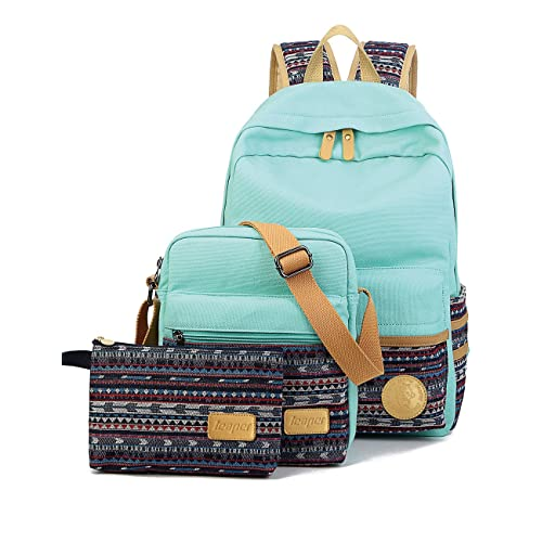 Leaper Backpacks for Teen Girls Teen Backpack Set School Bags, Bookbags 3 in 1