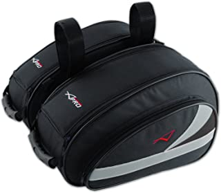 A-Pro Pareja Bolsas Side Alforjas Moto Sport Touring Cordura Impermeable Negro