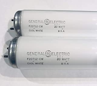 (2 Pack) GE F20T12/CW Straight T12 Fluorescent Tube Light Bulb - 24 Inch