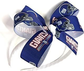 Girls NFL New York Giants Headband NY Giants Football Hair Bow