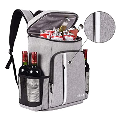 FORICH Cooler Backpack Insulated Leak Proof Backpack Cooler Bag Lightweight Soft Beach Cooler Backpack for Men Women to Work Lunch Picnics Camping Hiking, 30 Cans