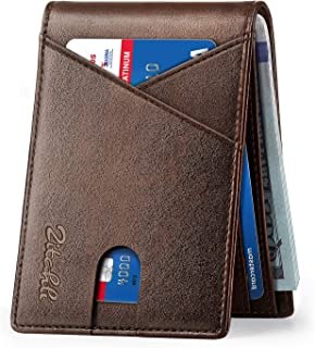 Sponsored Ad - Zitahli Mens Slim Wallet with Bill Pockets RFID-blocking Leather Bifold Wallets