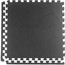 Greatmats Home Gym Floor Tiles 2x2 Ft x .75 Inch Pebble Design Interlocking Flooring Tile for Treadmills Ellipticals, Rowing Machines, Recumbent Bikes, Exercise Equipment, 15 Pack, Black