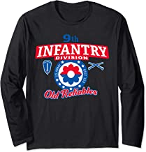 9th Infantry Division - Old Reliables-Fort Lewis RWB Long Sleeve T-Shirt