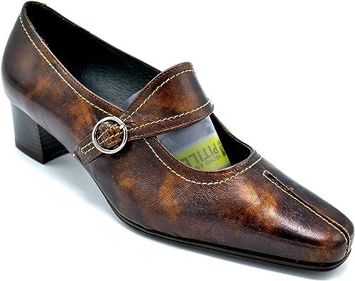 Pitillos 357 marrón - Zapato de tacón con Hebilla