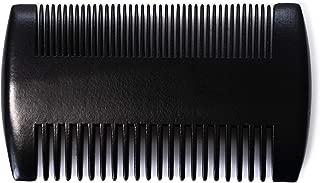 Peine para barba para hombre de madera auténtica, fino y grueso, de sándalo, pequeño, antiestático, doble cara, pelo largo, estilo hombre, peine de bolsillo