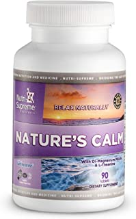 Calm Tablets: Nature's Calm Dietary Supplement - Natural Relief of Stress, Anxiousness, Nervousness, Sleeplessness and Irr...