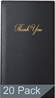 Guest Check Presenter with Gold Thank You Imprint - 5.5