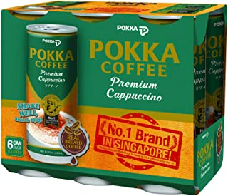 POKKA Cappuccino Coffee, 240 ml (Pack of 6)