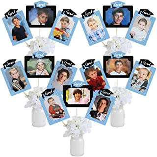 Big Dot of Happiness Light Blue Grad - Best is Yet to Come - Graduation Party Picture Centerpiece Sticks - Photo Table Top...