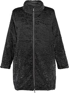 6c149fdd631a6 Ulla Popken Women s Plus Size Reversible Faux Persian Lamb Coat 718843