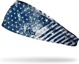 JUNK Brands Old Republic Big Bang Lite Headband, Blue/White, One Size