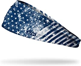 JUNK Brands Old Republic Big Bang Lite Headband, Blue/White, One Size