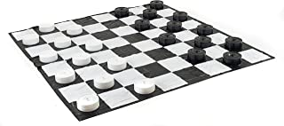 Garden Games Giant Checkers Set with Giant Mat