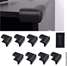 Table Corner Guards - 8 Pack, Black - Protects Your Baby / Child from Bumping or Falling Injuries - Spongy Cushion Material Makes Table / Other Furniture Corners Safer