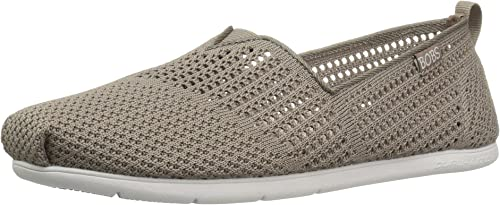 Skechers Bobs from Wohommes Plush Lite Flat, Taupe, 9 M US