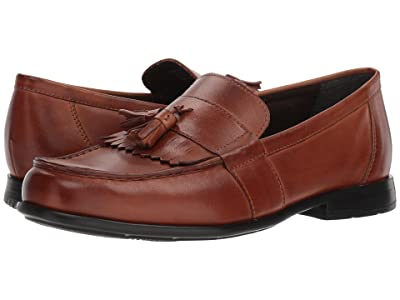 Nunn Bush Denzel Moc Toe Kiltie Tassel Slip-On KORE Walking Comfort Technology (Cognac) Men