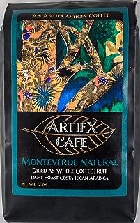 Artifx Cafe Monteverde Natural Costa Rica Coffee - 12 oz, Ground - Nature Friendly - Light Roast