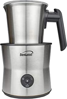 Brentwood Appliances GA401S 15-Ounce Cordless Electric Milk Frother, Warmer and Hot Chocolate Maker, One Size, Silver