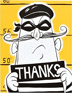 Birthday Express Police Party Cops and Robbers Party Thank-You Notes (8)