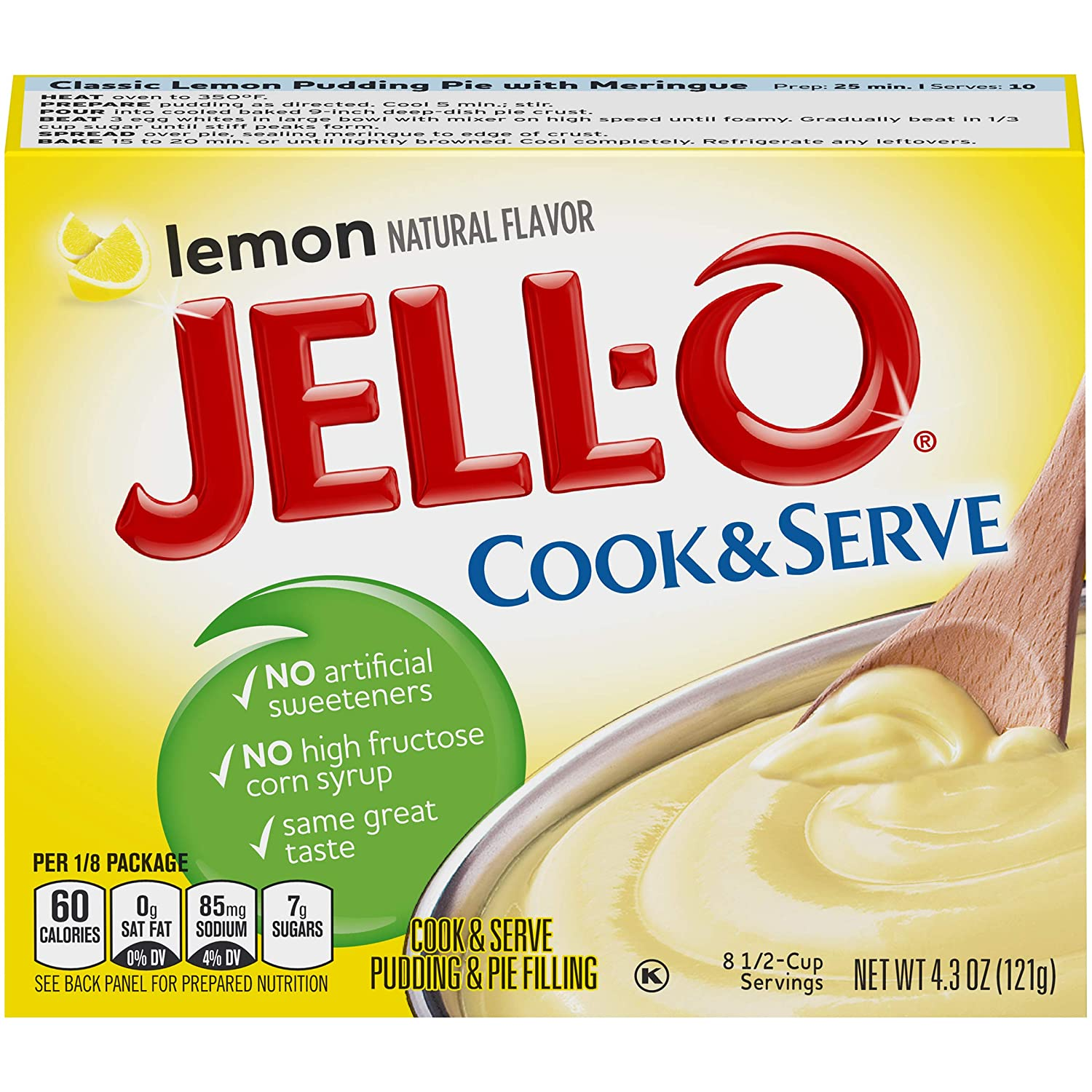 Jell-O Lemon Cook Daily bargain sale Max 72% OFF Serve Pudding Mix Ounce 6 of 4.3 Box Pack