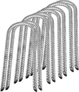 Pinnacle Mercantile Anti Rust Set 4 or 8 Trampoline Wind Stakes Ground Anchors Extra Heavy Duty 12 Inch Long 1/2 inch Round Galvanized