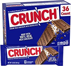 Crunch 100% Real Milk Chocolate Candy Bars, Perfect Easter Egg Basket Stuffers, Full Size 1.55 oz (36 Count)