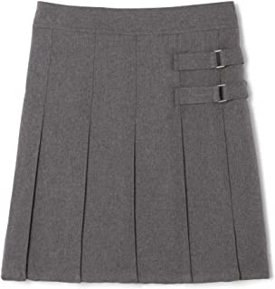 French Toast Big Girls' Two-Tab Pleated Scooter, Grey, 8