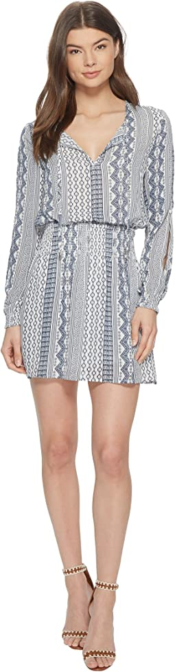 "Knight ""Filigree Stripe"" Printed Dress"