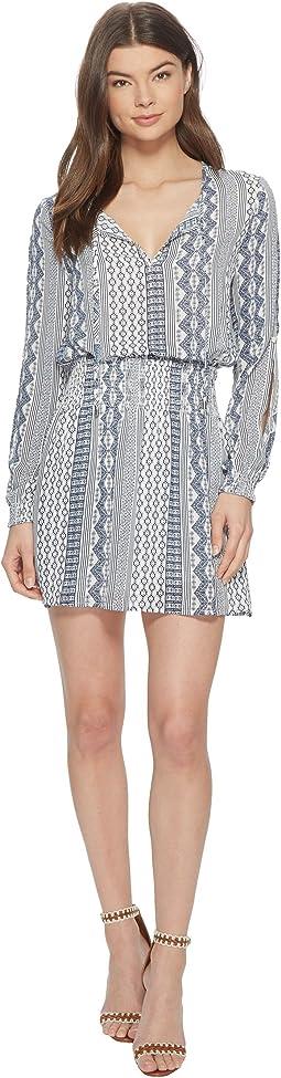 "Jack by BB Dakota Knight ""Filigree Stripe"" Printed Dress"