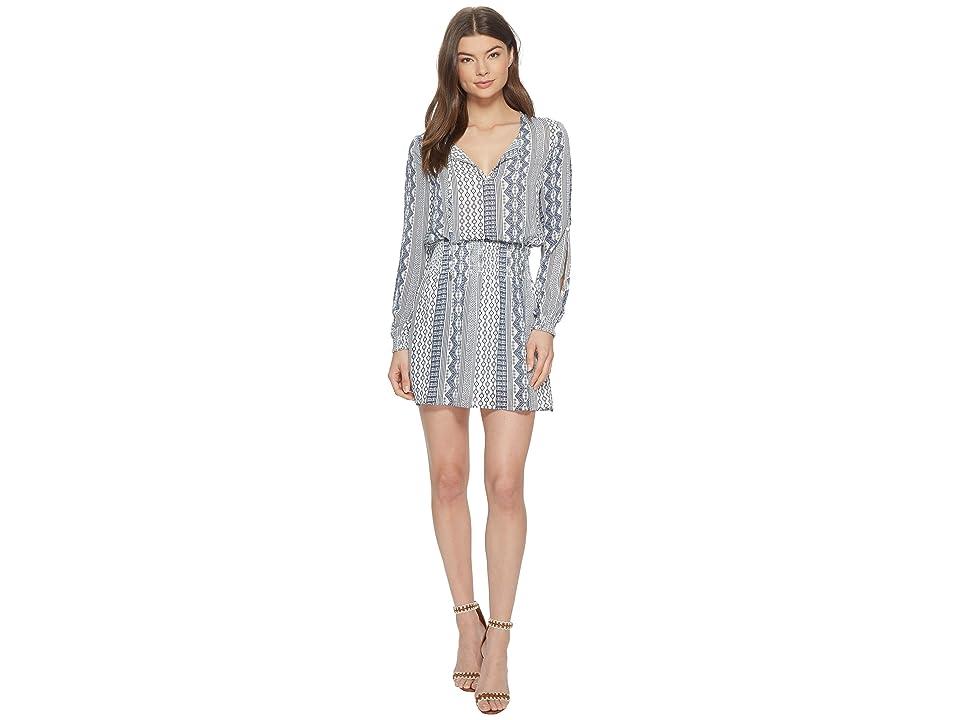 Jack by BB Dakota Knight Filigree Stripe Printed Dress (Off-White) Women