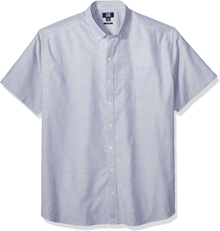 Cutter & Buck mens Wrinkle Resistant Stretch Short Sleeve Button Down Shirt