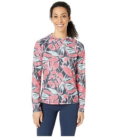 Columbia Super Tidal Tee Long Sleeve Shirt (Collegiate Navy/Dotty Palms) Women