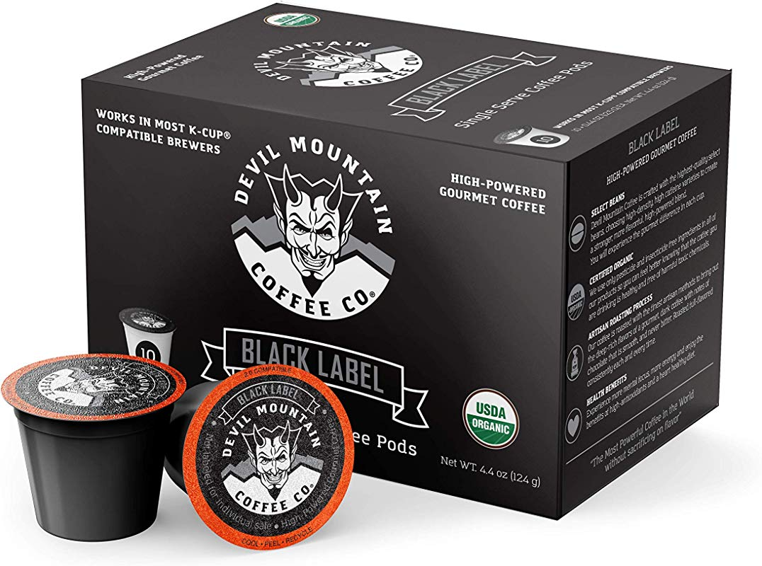 Black Label Single Serve K Cup Pods 10 Ct The Most Powerful Coffee In The World Without Compromising On Flavor Compatible With 2 0 Keurig Brewers