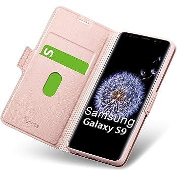 Custodia Galaxy S9 Portafoglio Sportellino Flip Cover Sottilissima Nera