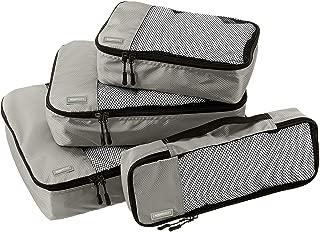 4 Piece Packing Travel Organizer Cubes Set - Grey