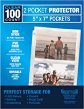 Samsill 2 Pocket Sleeves, Page Protectors for 3 Ring Binder, Clear, Archival Photo Sleeves That Holds up to 5 x 7