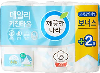 Kleannara FKT-APA0022B Daily Kitchen Towel 110c/t * 6Roll white