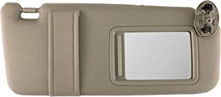 IAMAUTO 89958 New Sun Visor Right Passenger Side Tan Beige for 2007 2008 2009 2010 2011 Toyota Camry Without Vanity Light