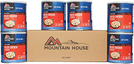 Mountain House Cooked Diced Chicken #10 Can - 6 Pack