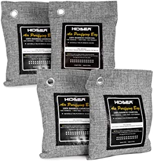 HIDBEA Activated Bamboo Charcoal Air Purifying Bags (4-Pack) Natural Deodorizer Odor Absorber Eliminator Remover for Home,...