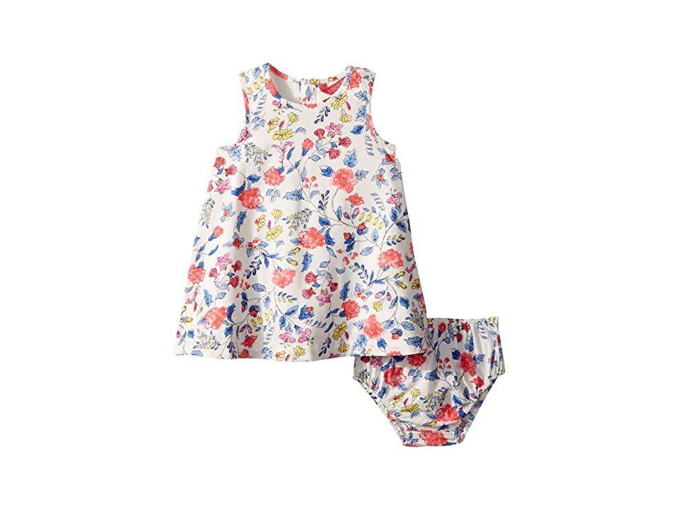 Joules Kids Woven Dress with Bloomers (Infant) (Beach Ditsy) Girl