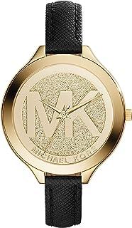 Michael Kors Womens Quartz Watch, Analog Display and Leather Strap MK2392
