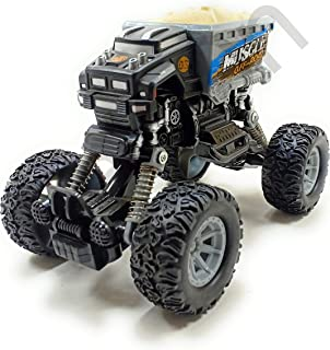 SaleOn™ Diecast Big Monster Truck Pull Back Car for Kids Big Rubber Tires Long Sunspension Push-able Assorted Colors (1149)