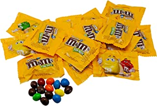 Milk Chocolate Peanut M&Ms Fun Sized Individual Bags - 5LB Resealable Stand Up Bag (approx. 115 pieces) - Bulk Milk Chocolate Bulk Filler Candies - Candy for Parties and Holidays