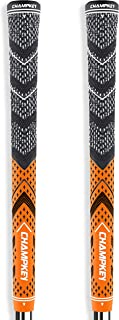 Champkey Victor Golf Grips Set of 2(Free 2 Tapes & Clean Cloth Included) - All Weather Cord Rubber Golf Club Grips Ideal for Clubs Wedges Drivers Irons Hybrids
