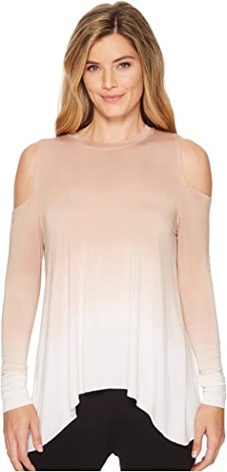 Wrap Back Cold Shoulder Top