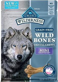 BLUE Wilderness Wild Bones Grain Free Dental Chews, 10 oz., Mini Bones for Dogs