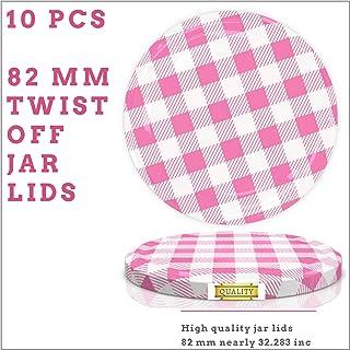 82 mm Spare Lids For Pickle and Larger Jars/Multipurpose (Twist Off Lid) (Pink, 10)