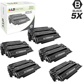 LD Remanufactured Toner Cartridge Replacement for Canon GPR-40 3482B005AA (Black, 5-Pack)